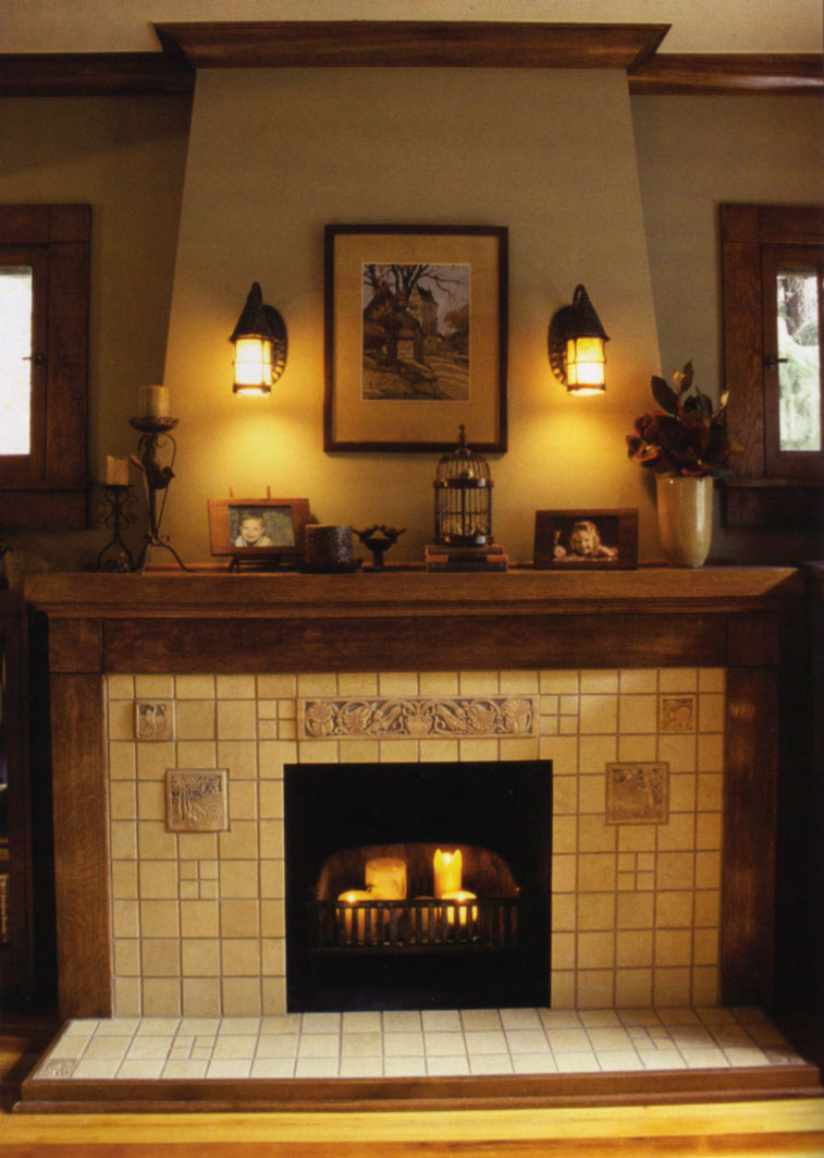 In Search Of A Craftsman Arts Crafts Fireplace Mantel Building The Pe